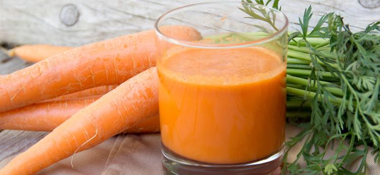 Zumo detox de zanahoria