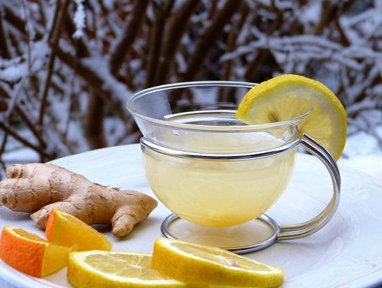 Zumo de limon y jengibre